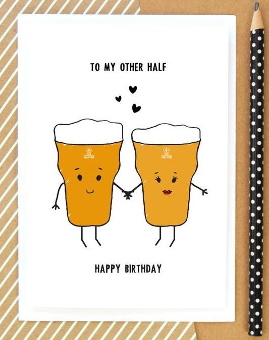 Hand made birthday card husband 1