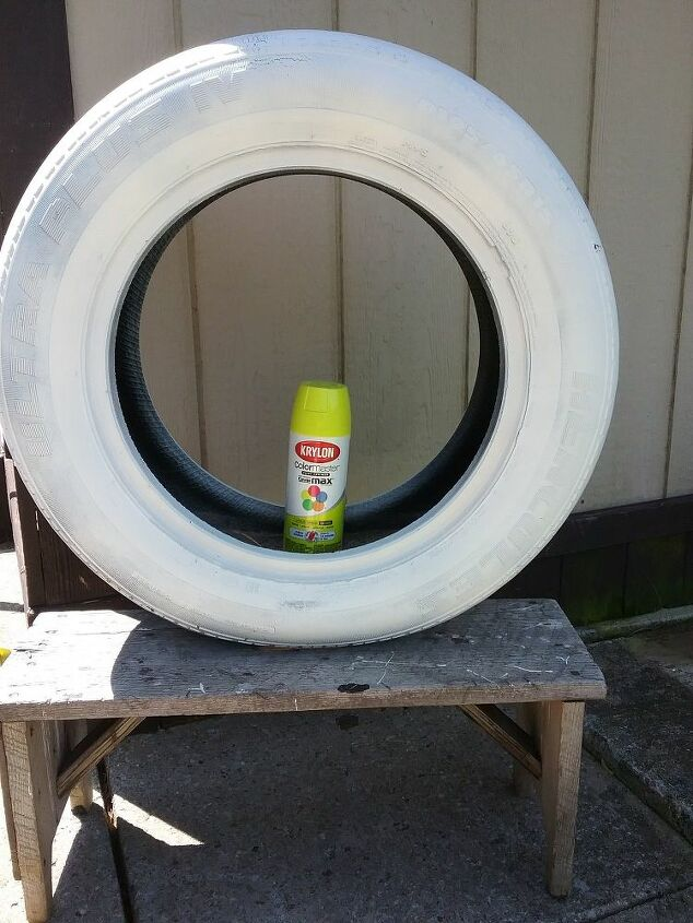 paint old tire